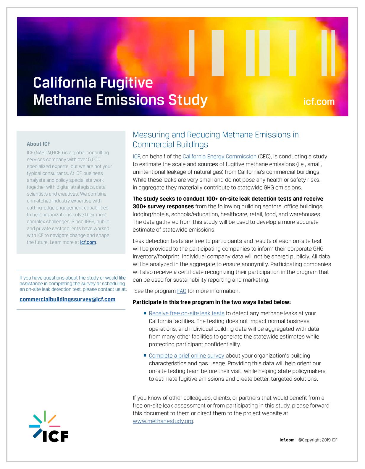 Fact Sheet - California Fugitive Methane Emissions Study