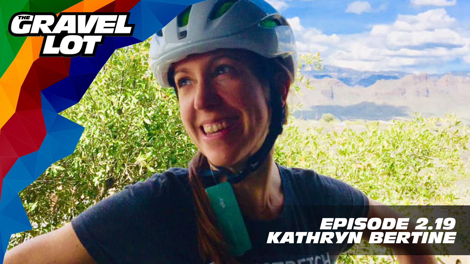 """Episode 71: Author, filmmaker, advocate, athlete, and the muscle behind The Homestretch Foundation, Kathryn Bertine joins us this week. We discuss how her career, life experiences, and unique skills have informed how she is working to make a difference for a new generation of athlete.   Visit The Gravel Lot website for our latest podcast, Real Talk videos, Bonus Content, shop, social media, and everything in between.    Red Kite Ronde Registration    Handup Gloves: Use code """"PEBBLE$"""" for 20% off EVERYTHING in store.    Be Free Ride Bikes:    RoadID: Save $10 off ANY order over $20.    Noxgear: Use code """"PEBBLES"""" for 35% off any item.    Magas Law Firm:   Subscribe to The Gravel Lot on the  Wide Angle Podium Network and become a member TODAY!   Learn more about Undertipper and download their latest album """"Y'all"""" at:  http://undertipper.bandcamp.com/"""