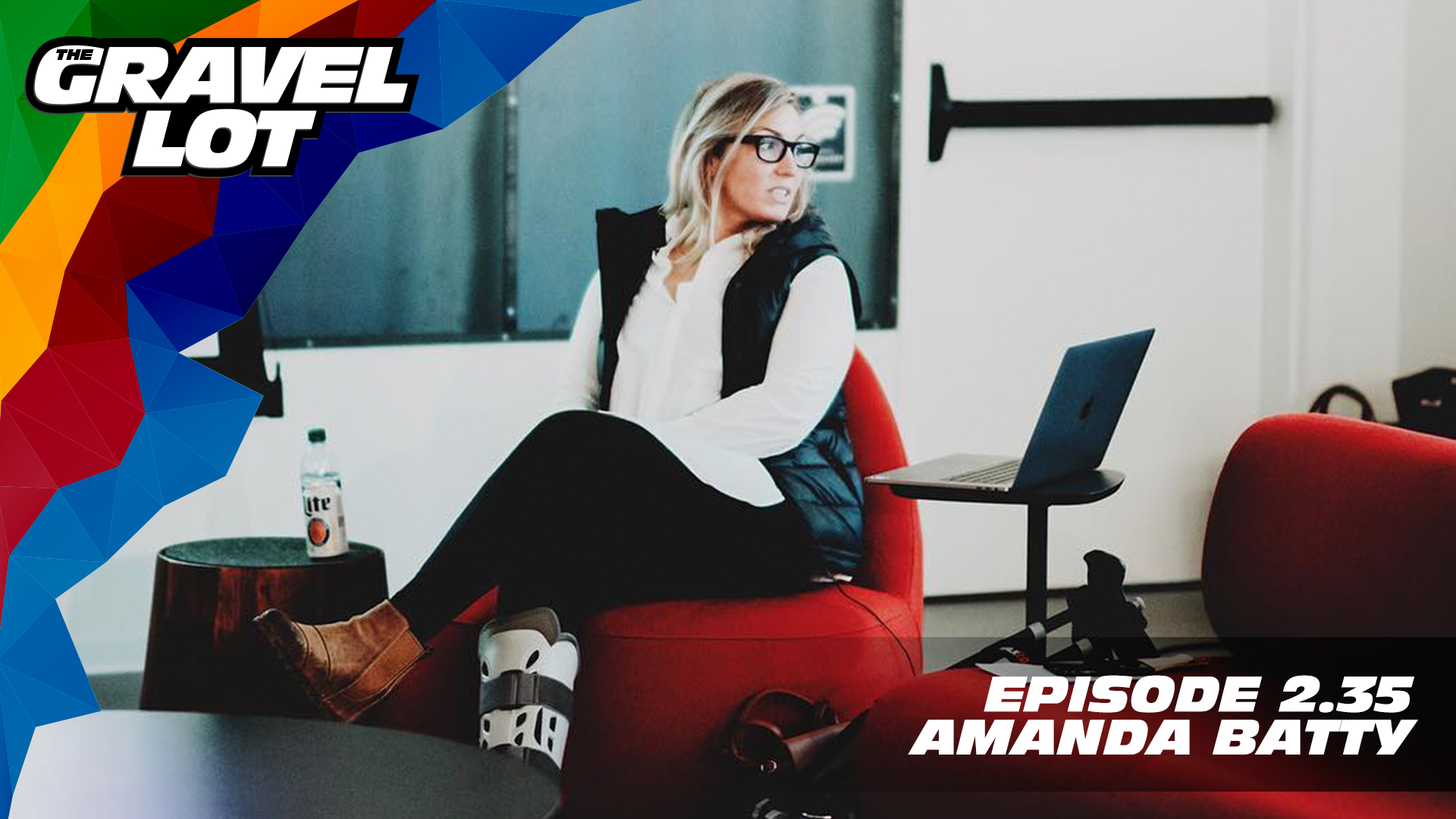 """After nearly losing her leg after a crash at the 2018 DH National Championships, Amanda Batty describes her past year as: A period of immense growth and massive change in every aspect of my life, and it's led to some incredible experiences, new lessons and what I can only describe as a fresh outlook on... Everything.   Exclusive Preview of Unknown Country: One man's inspirational journey to the Dirty Kanza XL    Visit The Gravel Lot website for our latest podcast, Real Talk videos, Bonus Content, shop, social media, and everything in between.    Grimpeur Brothers Coffee: Purchase The Full Schleck or Hello Cyclocross Friends Espresso and support WAP today!    Handup Gloves: Use code """"PEBBLE$"""" for 20% off EVERYTHING in store.    RoadID: Save $10 off ANY order over $20.    Magas Law Firm:    Be Free Ride Bikes:    Noxgear: Use code """"PEBBLES"""" for 35% off any item.   Subscribe to The Gravel Lot on the  Wide Angle Podium Network and become a member TODAY and get access to EXCLUSIVE bonus content.   Learn more about Undertipper and download their latest album """"Y'all"""" at:  http://undertipper.bandcamp.com/"""
