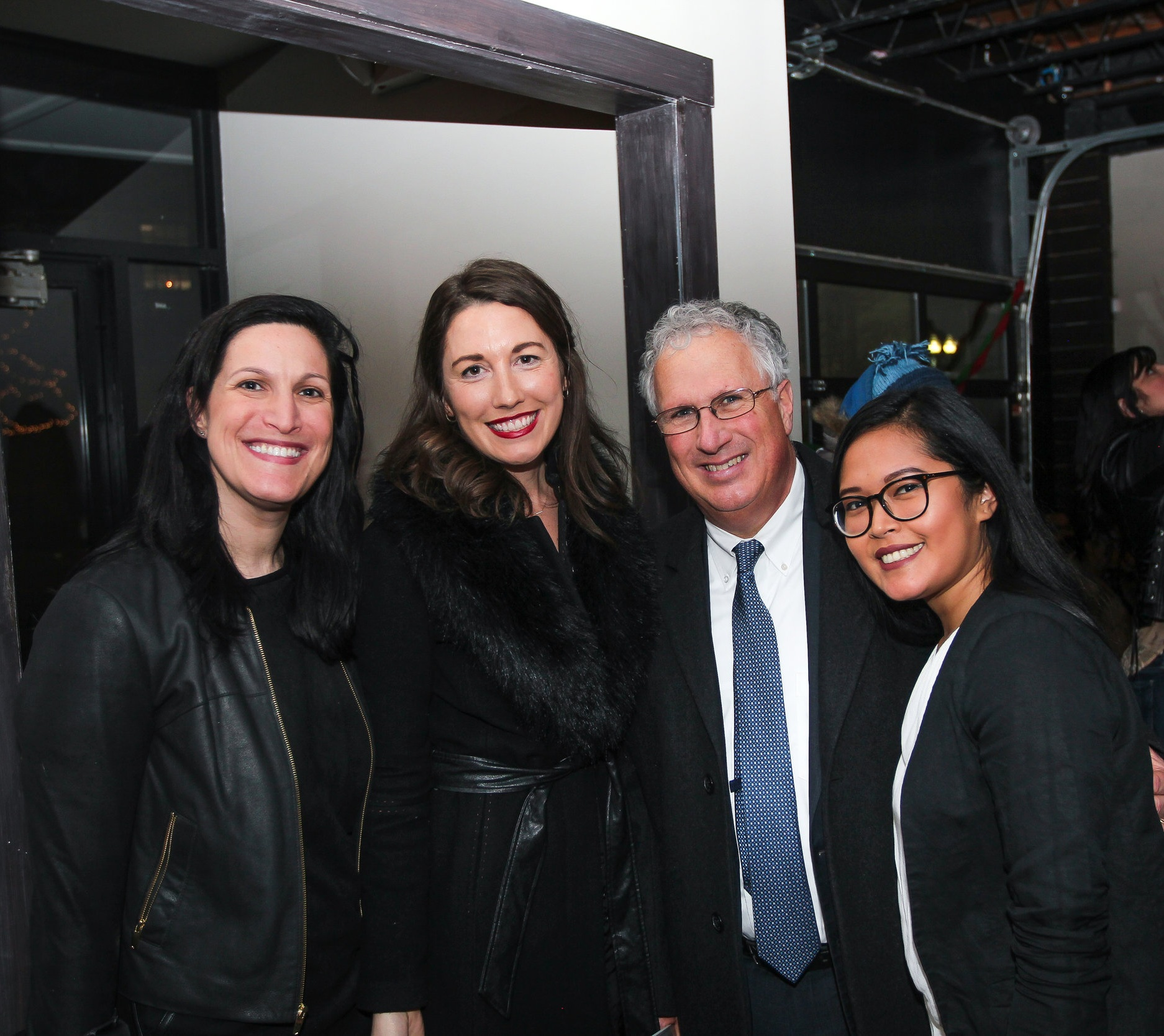 Meggan Levene, Liza Ryan, Mayor Thomas McGee, and Cinda Danh at the release party for Faces of Lynn Magazine Issue #2