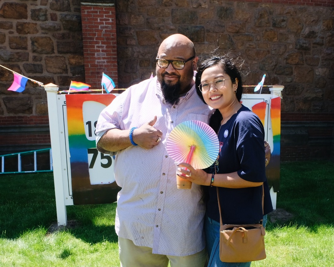 "Cinda and Jason Cruz at the 4th Annual Lynn Youth Pride ""Be You Lynn""."