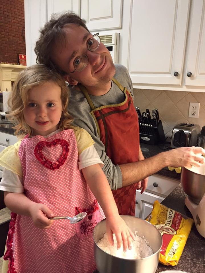 Baking time with my oldest daughter