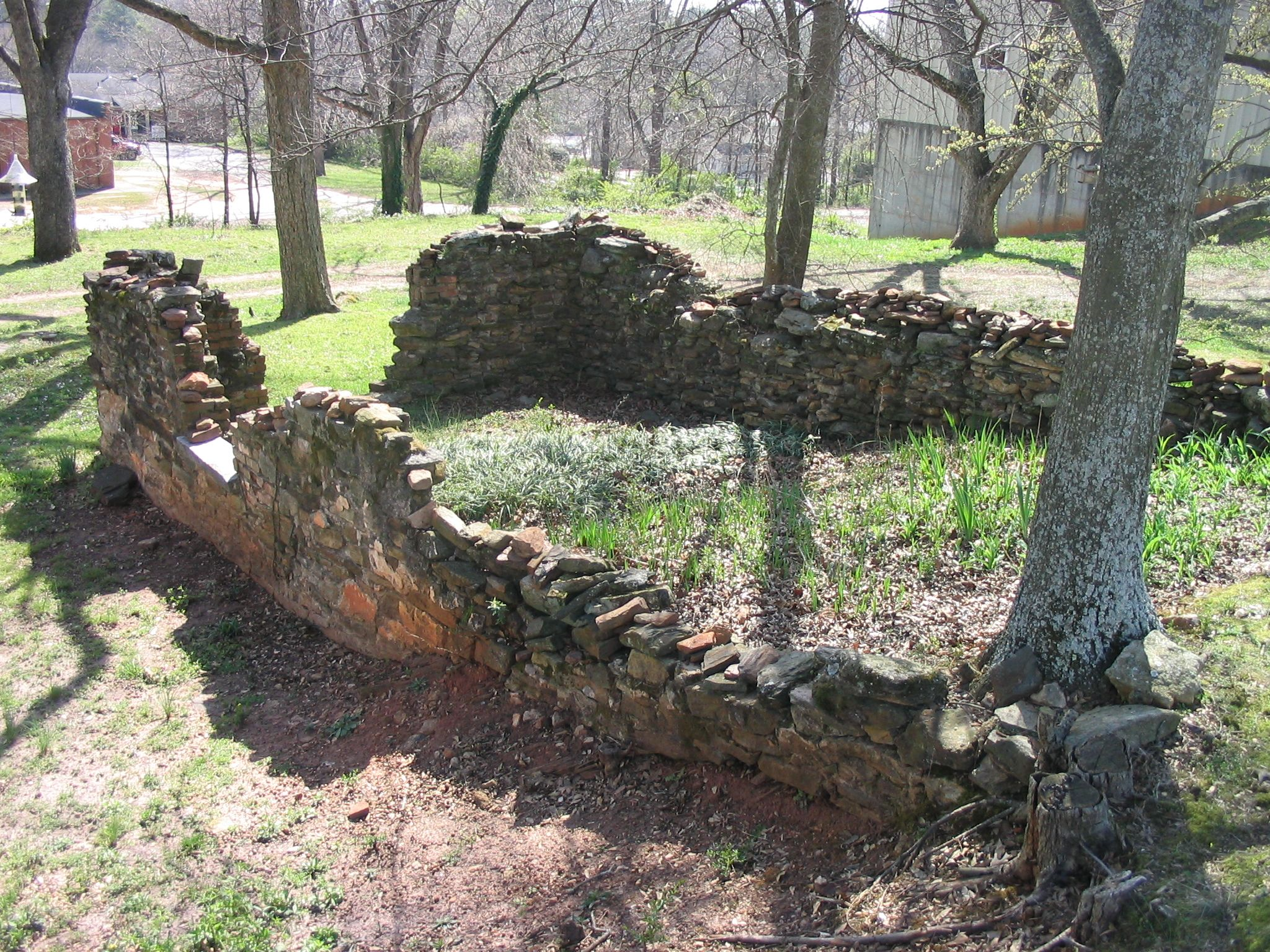 The foundations of a nameless old house on the backstreets of Lawrenceville