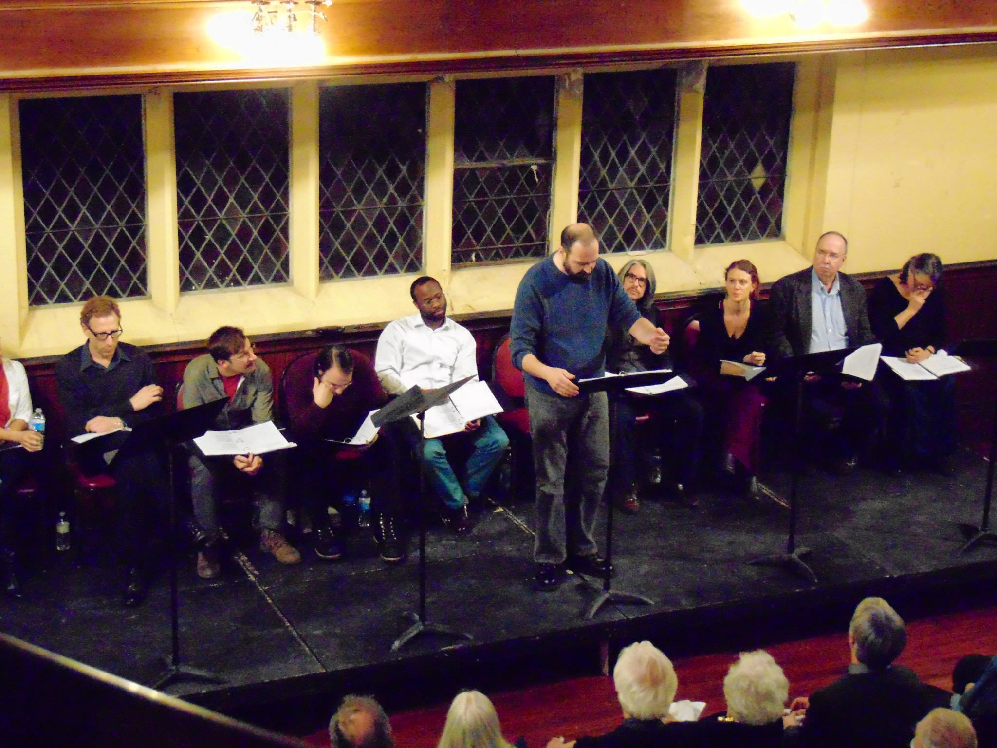 The company of the Philadelphia Artists Collective reading of THE MOOR'S SON.