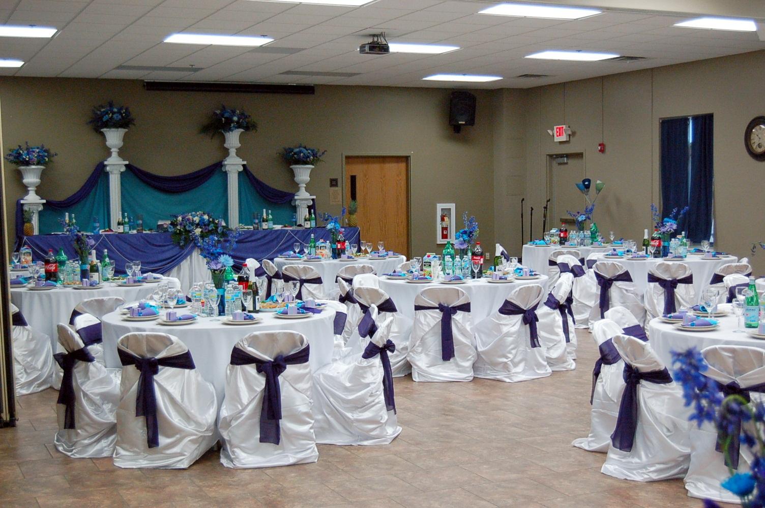 Fellowship Hall Setup w/head table