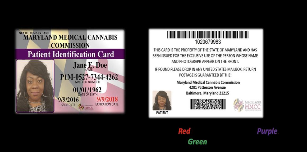 Uplift Maryland MMCC ID  Cannabis Card