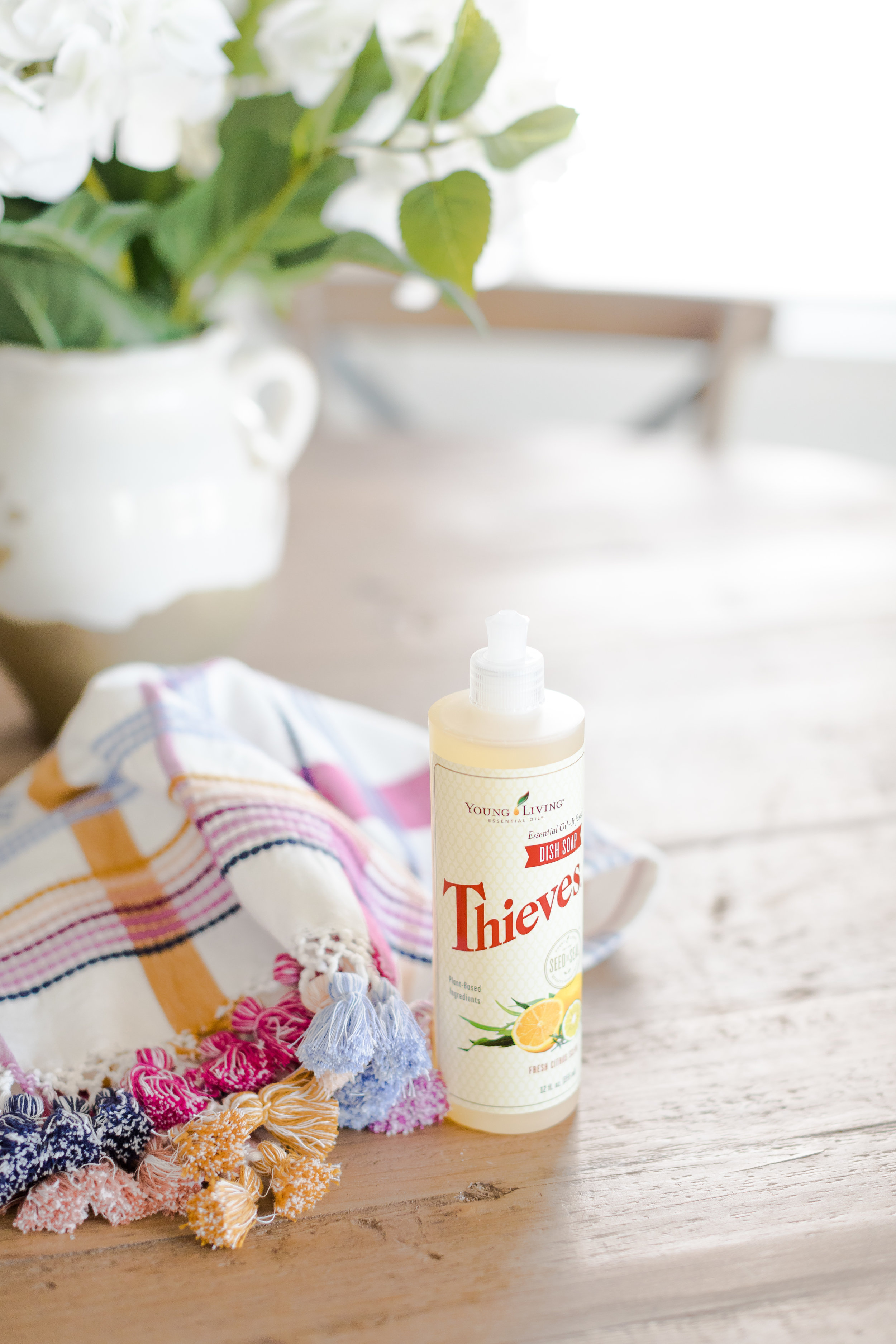 Young Living Thieves dish soap for a healthy home