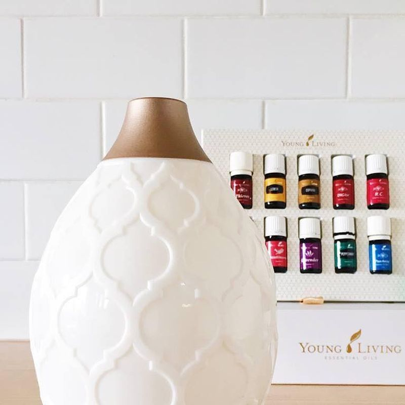 Oil diffuser with Young Living
