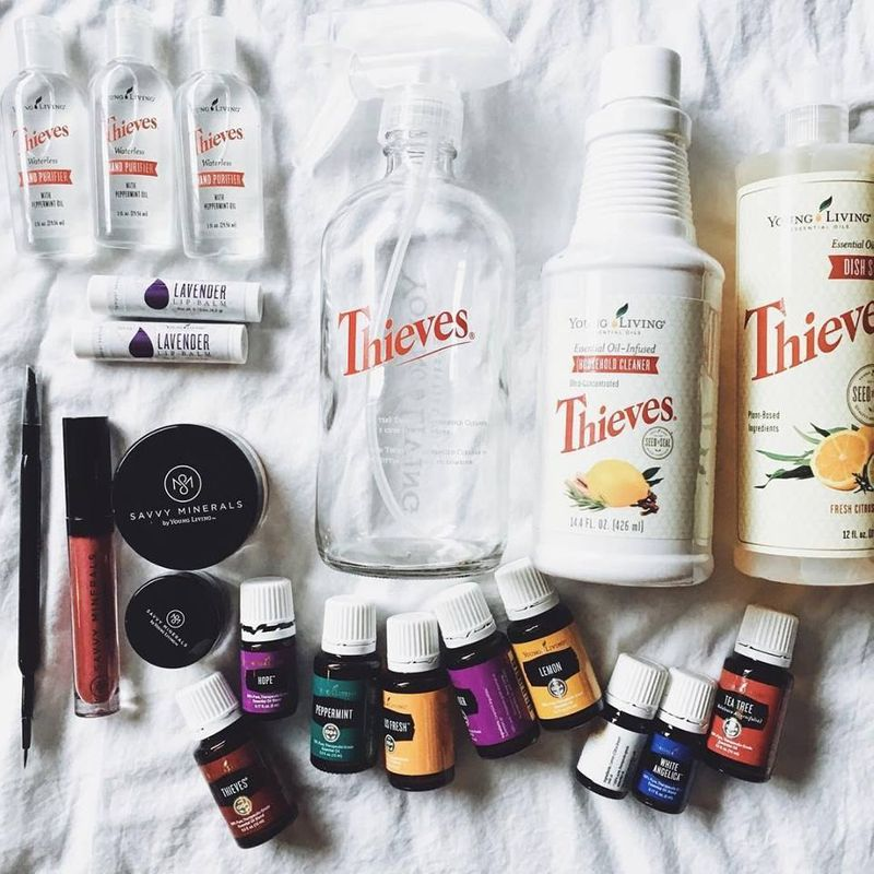 Young Living products in the home