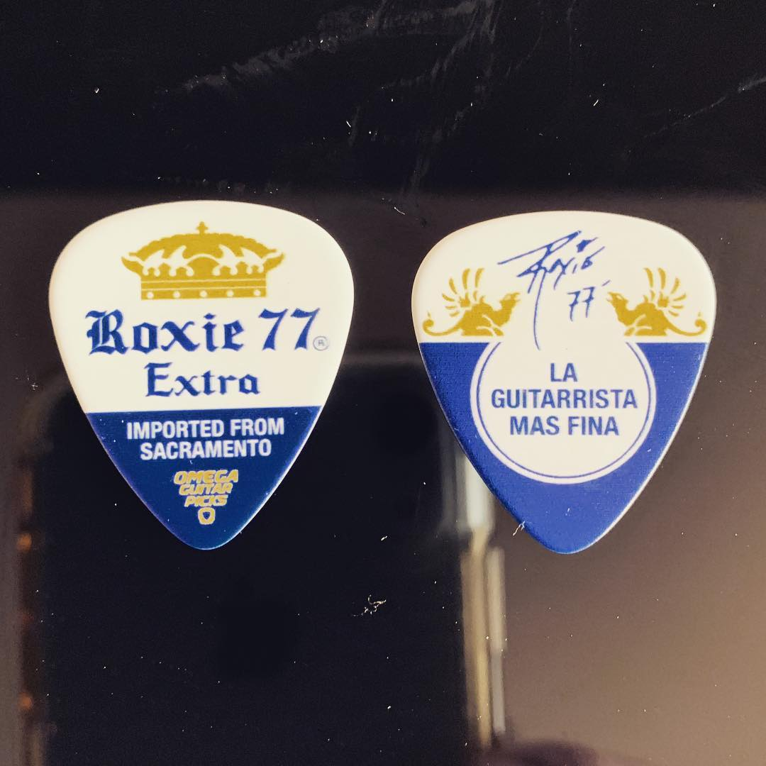 Special thanks to  Omega Guitar Picks  For designing these beauties especially for this performance at Domination Mex Festival