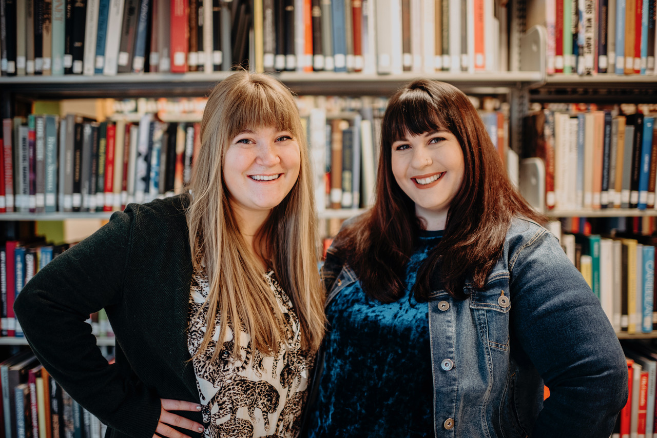 The hosts, Emily & Emma, are both applied social psychology grad students.