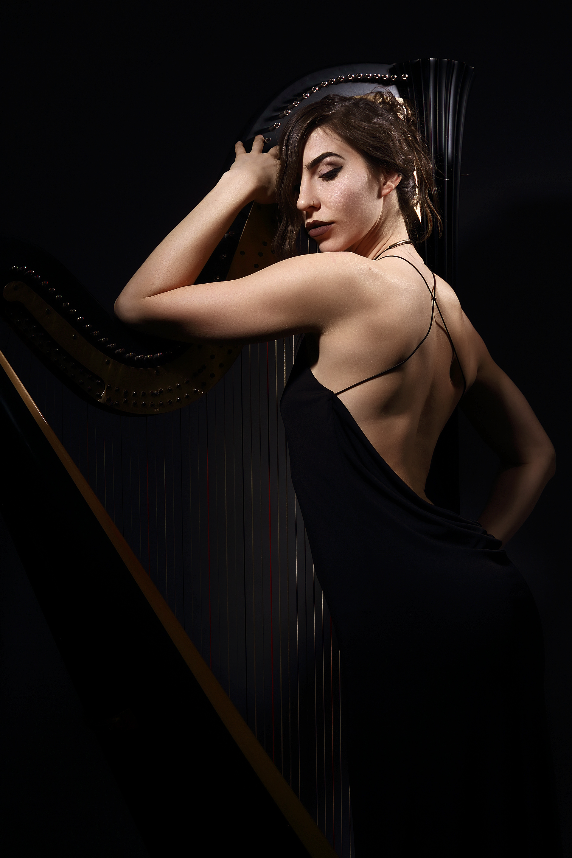 Stephaine Babirak , harpist, model and performer