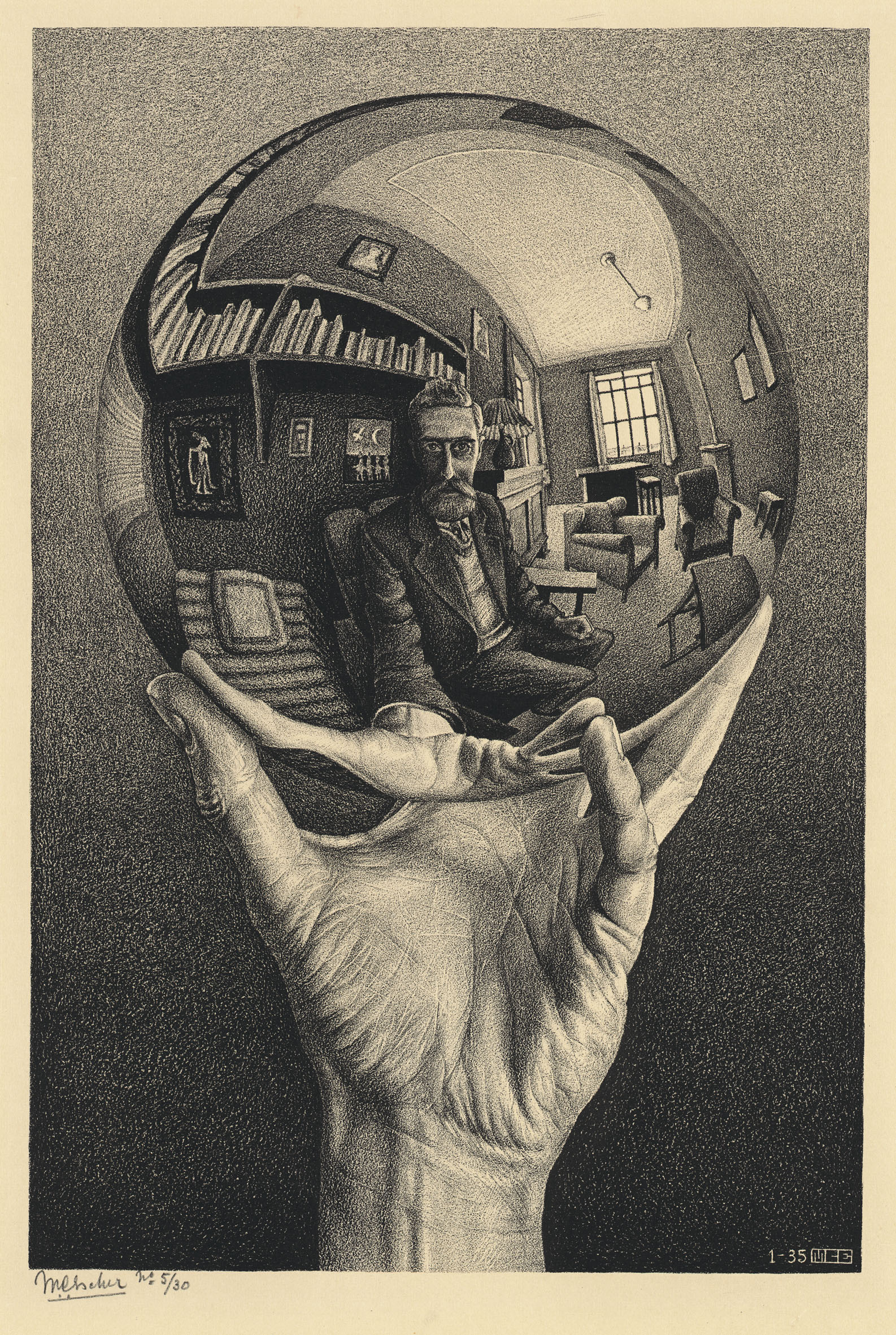 Vicky choice #1 - Hand with Reflection by M.C. Escher