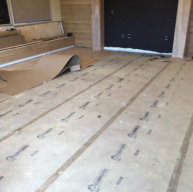 Progress on a new addition to Chestertown. Very exciting! #woodfloors #sandandfinish #progress #bar #ironwoodsandandfinish