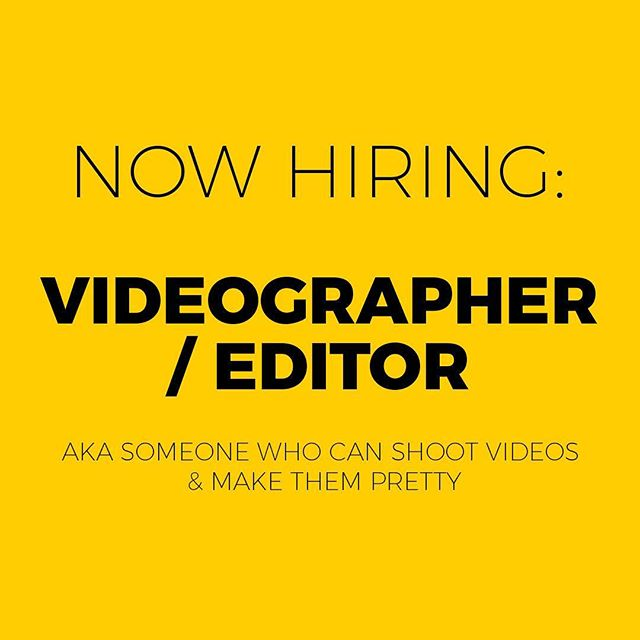 We are looking for a new team member! The ideal candidate has experience editing with Adobe CC and shooting with Sony cameras. Most importantly, we're looking for a really fun, creative person with a desire to help make the stories we tell more beautiful. Email resumes and examples of work to hello@storyvox.com