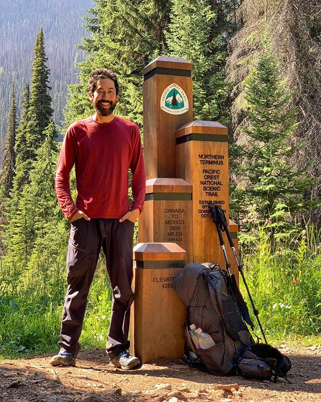 Woo!!! 🥳 🇨🇦 I finished walking Washington state: from the Oregon/Washington border into Canada on the PCT. In total it was 514 miles with 112,000 ft of elevation gain. 🏔 🏔 🏔  I haven't had cell phone signal or internet access for almost two weeks. I plan to post my photo highlights as throwbacks/flashbacks. 📸 Northern Washington is visually stunning!  This does not mean that I have hiked the whole PCT. This year I've hiked 1400 miles including the desert section 🌵, Washington ☔️, and some of Northern California ☀️. I have not hiked the Sierra ⛰ or Oregon 🌲  Washington was a physically and mentally demanding section. I'm still collecting my thoughts. I'm feeling grateful for safe passage, my body not shutting down (though it felt close sometimes 😅) and the support of friends and family.  #pct2019 #pct #pcta #pctig #teamzpacks #trekthepct #pacificcresttrail #mexicotocanada