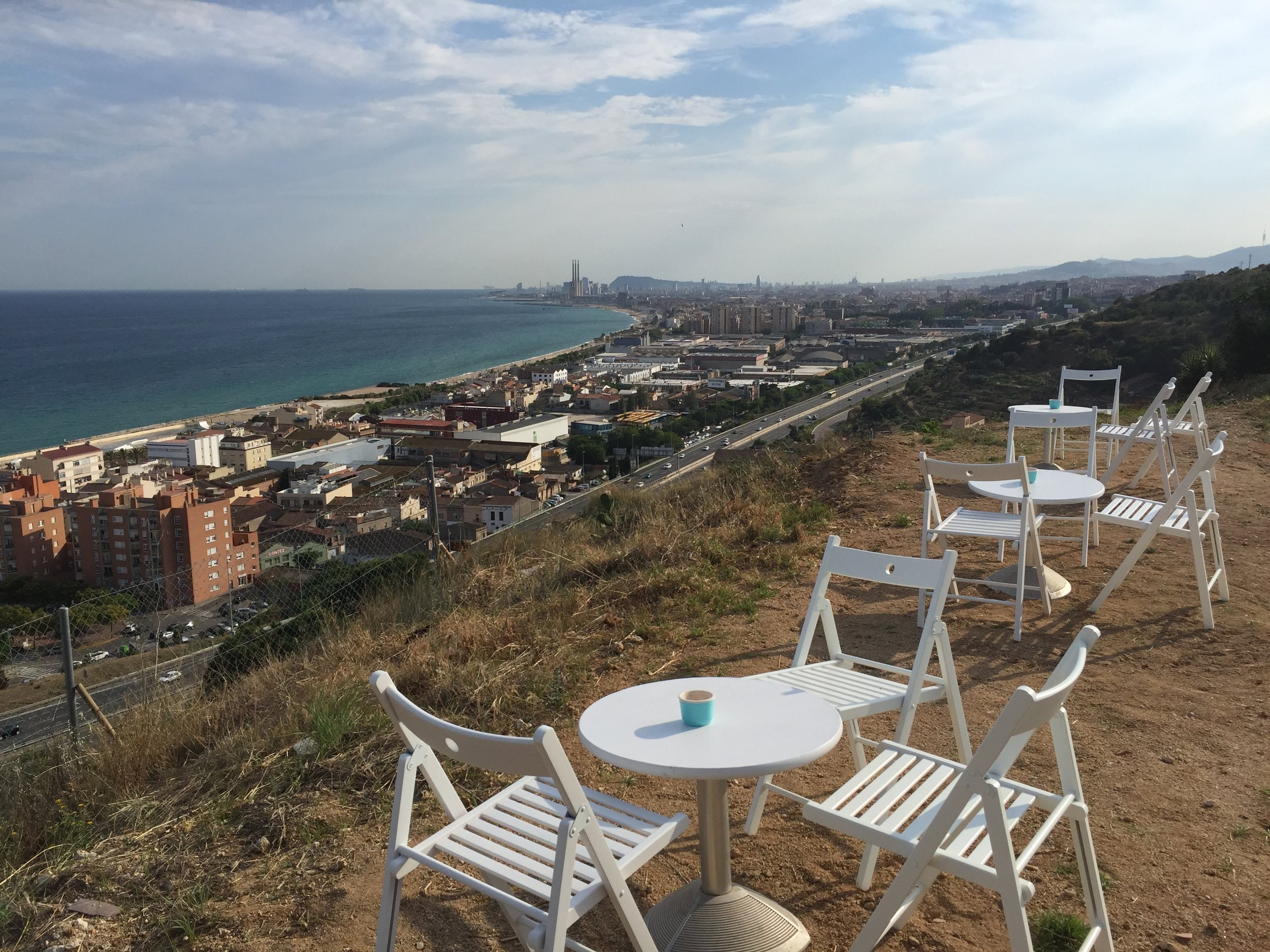 View of Barcelona from one of my favorite summertime bars, Panoramic. www.wheatfoot.com