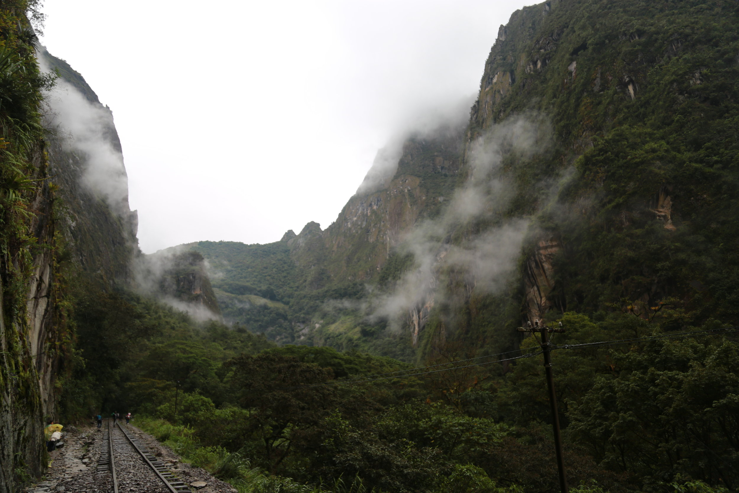 Final stretch from hidroelectrica to Aguas Calientes, Day 3 of Salkantay Trek to Machu Picchu.