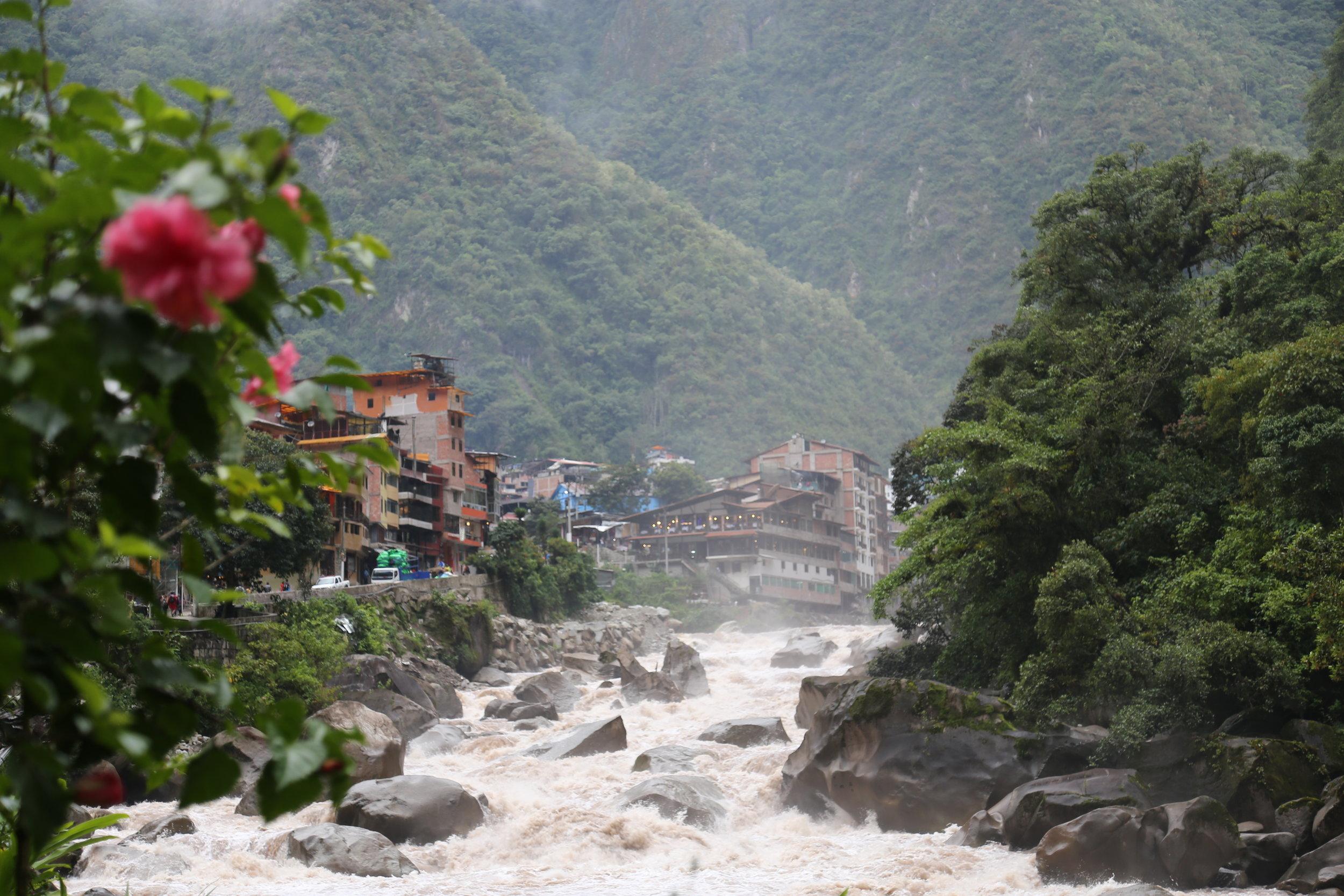 Aguas Calientes. Final resting spot until Machu Picchu. Day 3 of Salkantay Trek.