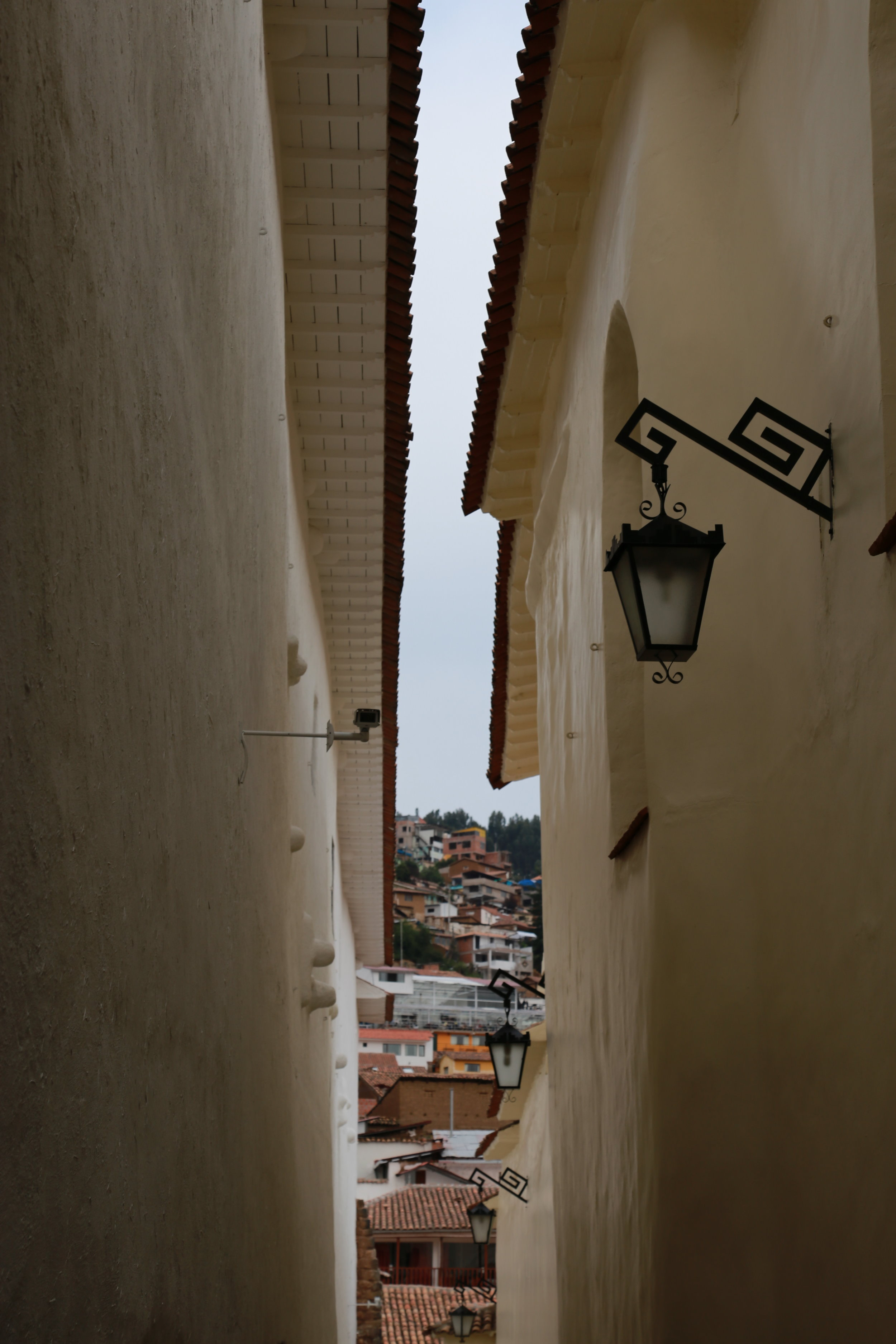 Narrow streets of Cusco, Perú.