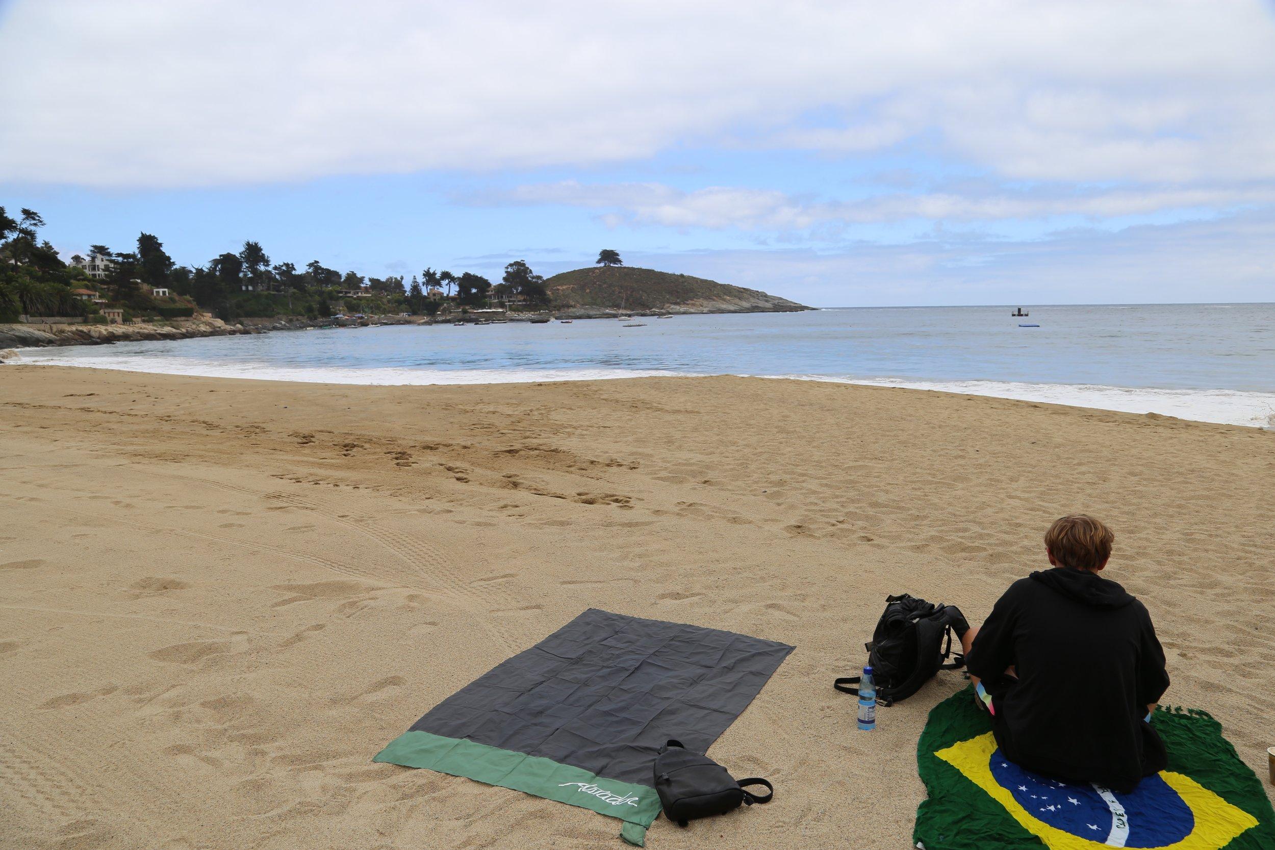 Zapallar beach all to ourselves.