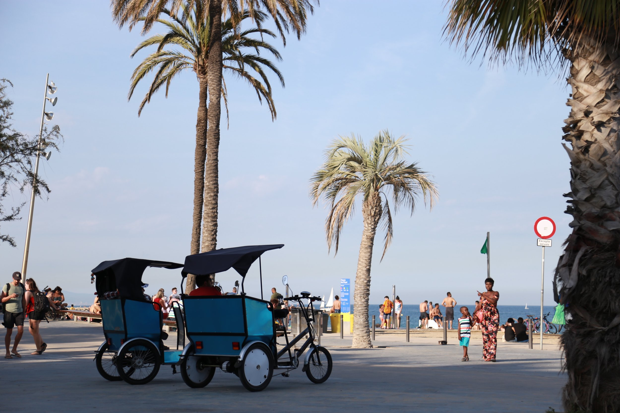 Pedicabs are one way to get around Barcelona, but not the cheapest option.