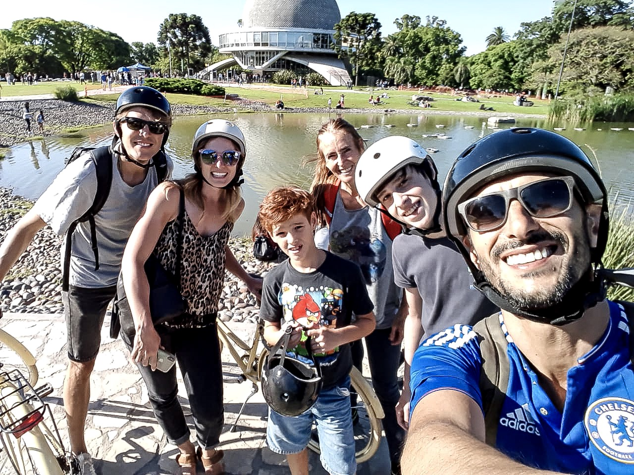 Airbnb experience bike ride in Buenos Aires.