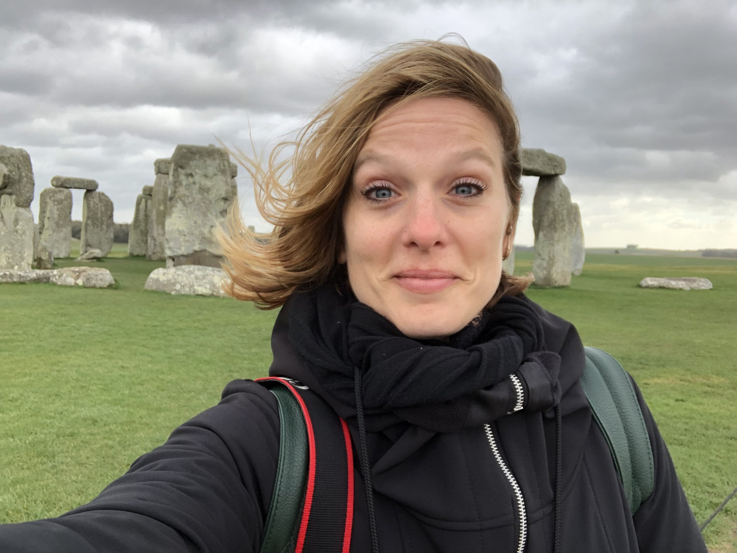 Me at Stonehenge, courtesy of me being able to work while traveling.