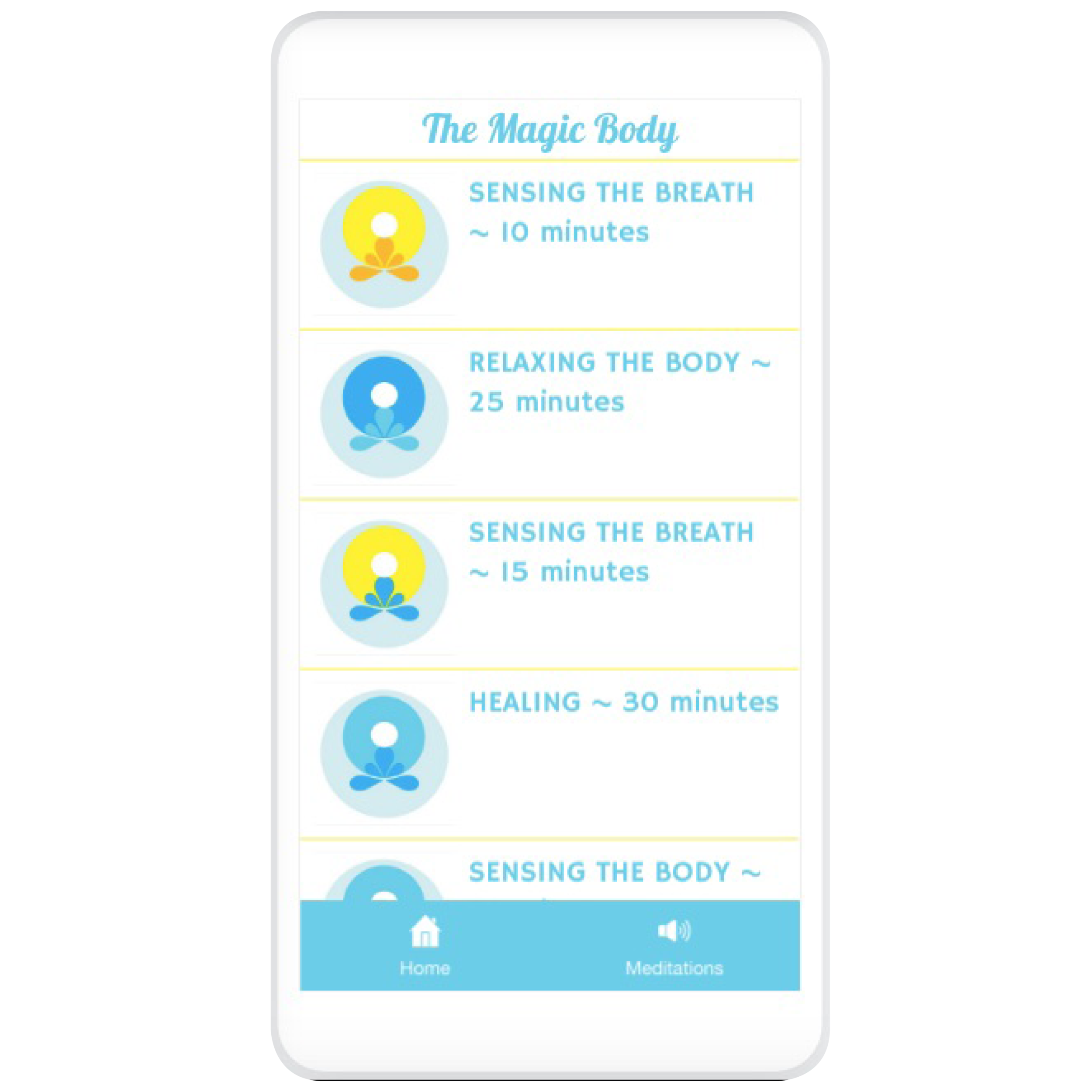 Download the Magic Body Meditation App! - Access the App on Desktop or Download it to your Phone, FREE here