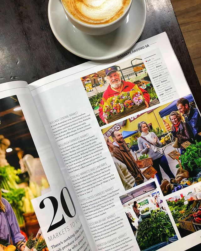 Well look at this! 👀 We were delighted to turn up for our regular coffee at @darlingsfoodwithpassioncafe and find this beautiful copy of @salifemag Food & Wine List of 2019 and featuring a beautiful snap of our @barossafarmersmarket Walking Tour! What a way to start the weekend!