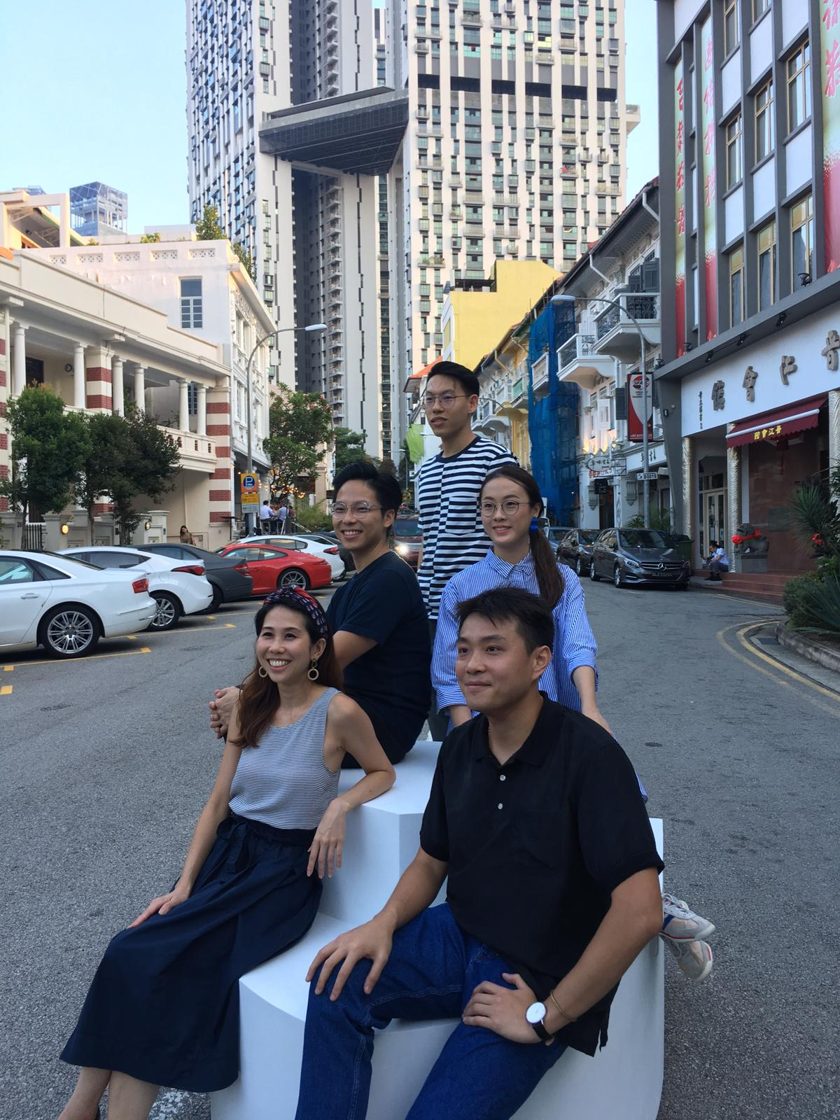 Ryan and Shermeen (of OuterEdit) with fellow creative collaborators Melvin Ong, Ong Lijie and Matthew Sia