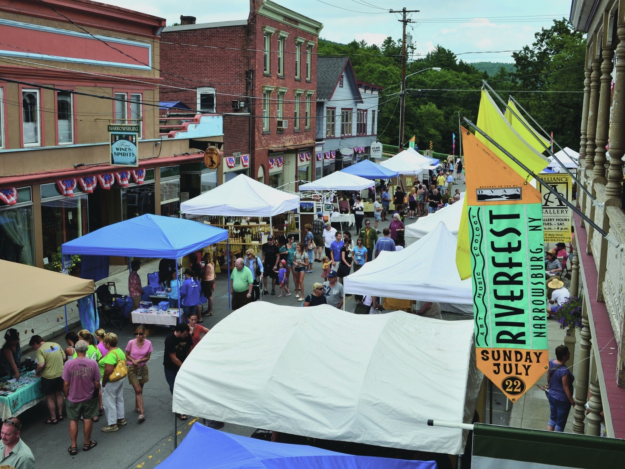 The annual Riverfest celebrates the Upper Delaware River and focuses attention on its conservation. Narrowsburg, New York  (Herb Clark, Sullivan County Visitors Association)