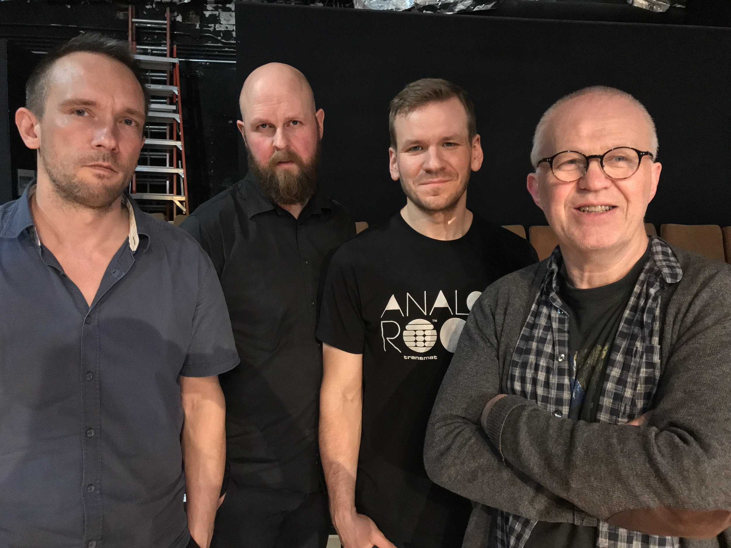 photo by David Zuchowski   Paal Nilssen-Love : drums /  Øyvind Storesund : double bass /  Jon Rune Strøm : double bass /  Frode Gjerstad : alto saxophone, alto flute and Bb-clarinet