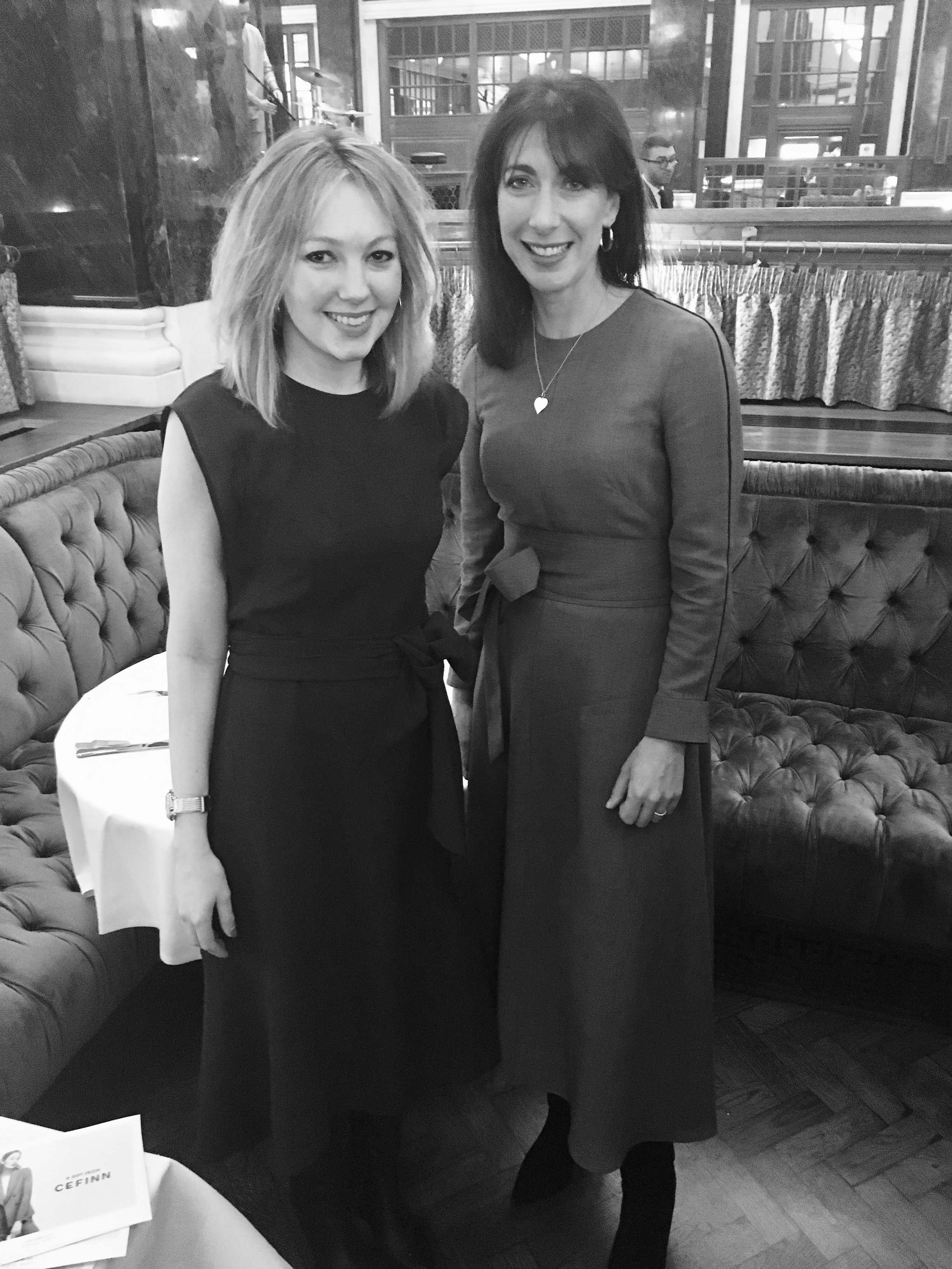 Fashion for Brunch with Samantha Cameron, March 2018 - On a snowy morning in March, I had the pleasure of interviewing Samantha Cameron at Cecconi's as part of the Ned's Fashion For Brunch series. She was exceptionally warm and forthcoming, sharing stories of visiting the Obamas, life in Number 10 - and setting up her own label, Cefinn.