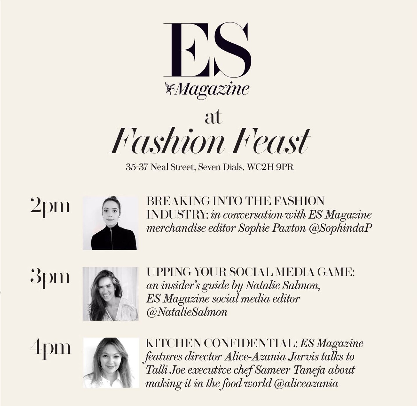 Fashion Feast at Seven Dials, June 2017 - On Saturday 10 June 2017, ESI media took over a shop in Seven Dials for a day of talks on fashion, social media and food, chaired by me.