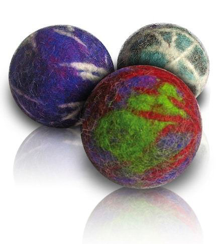 - Made from recycled tennis balls, scrap yarn & wool fleece, CATA's dryer balls reduce your dryer tom to help save energy!
