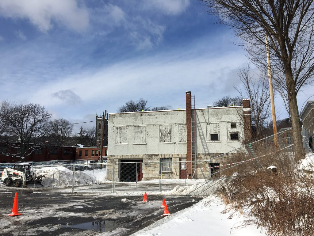 FEB 14, 2018 - The old Laramee Cleaners building. Future site of our new home.