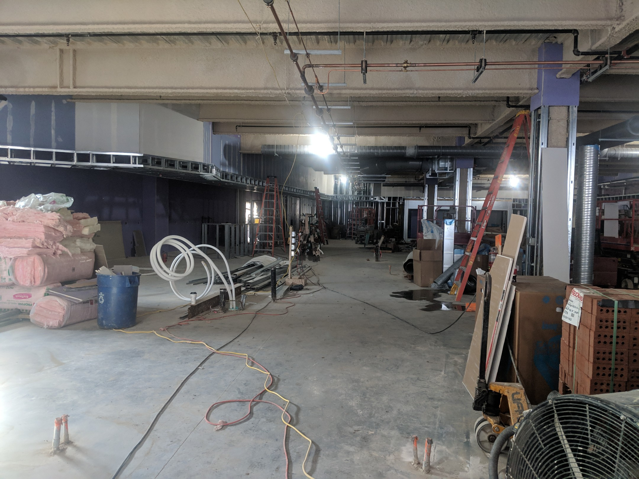 MARCH 8, 2019 - Sheetrock going up!