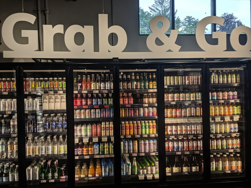grab & go drinks and prepared foods