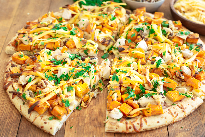 Autumn harvest pizza -
