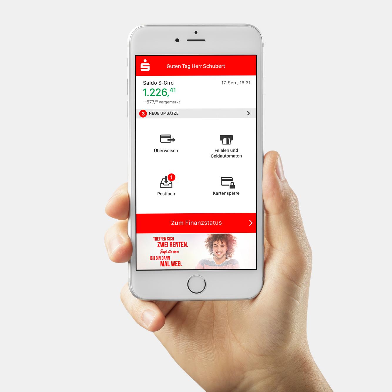 Sparkassen app - Design für 4 Mio Needs
