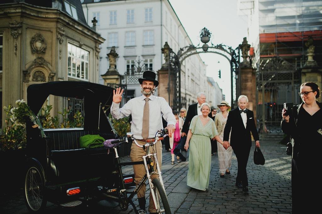 Cykeltaxa foran Odd Fellow
