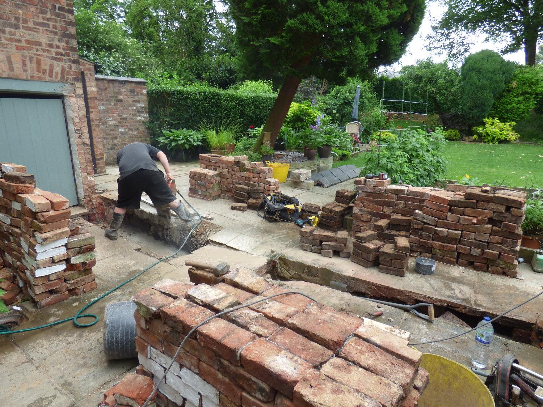 Rebuild Of Garden Wall Quex Construction