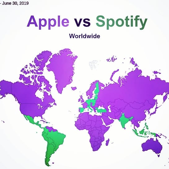 Apple is the main podcast platform in most countries around the world. However, Spotify is making some breakthroughs, taking over the Netherlands, Germany, Bulgaria, Spain, Finland, Italy, Austria, Estonia, Latvia and Lithuania. Spotify has the advantage of running on both Apple and Android handsets - definitely something to watch our for in countries like Brazil, where 90% of mobile users opt for Androids. . . . . . . #tech #mobile #technews #technology #audio #spotify #apple #music #podcasts #business #global #news #mobilephotography #editingaudios #soundcloudrapper #soundcloud #audioboom #castbox #stevejobs #streaming #entrepreneur #audioproduction