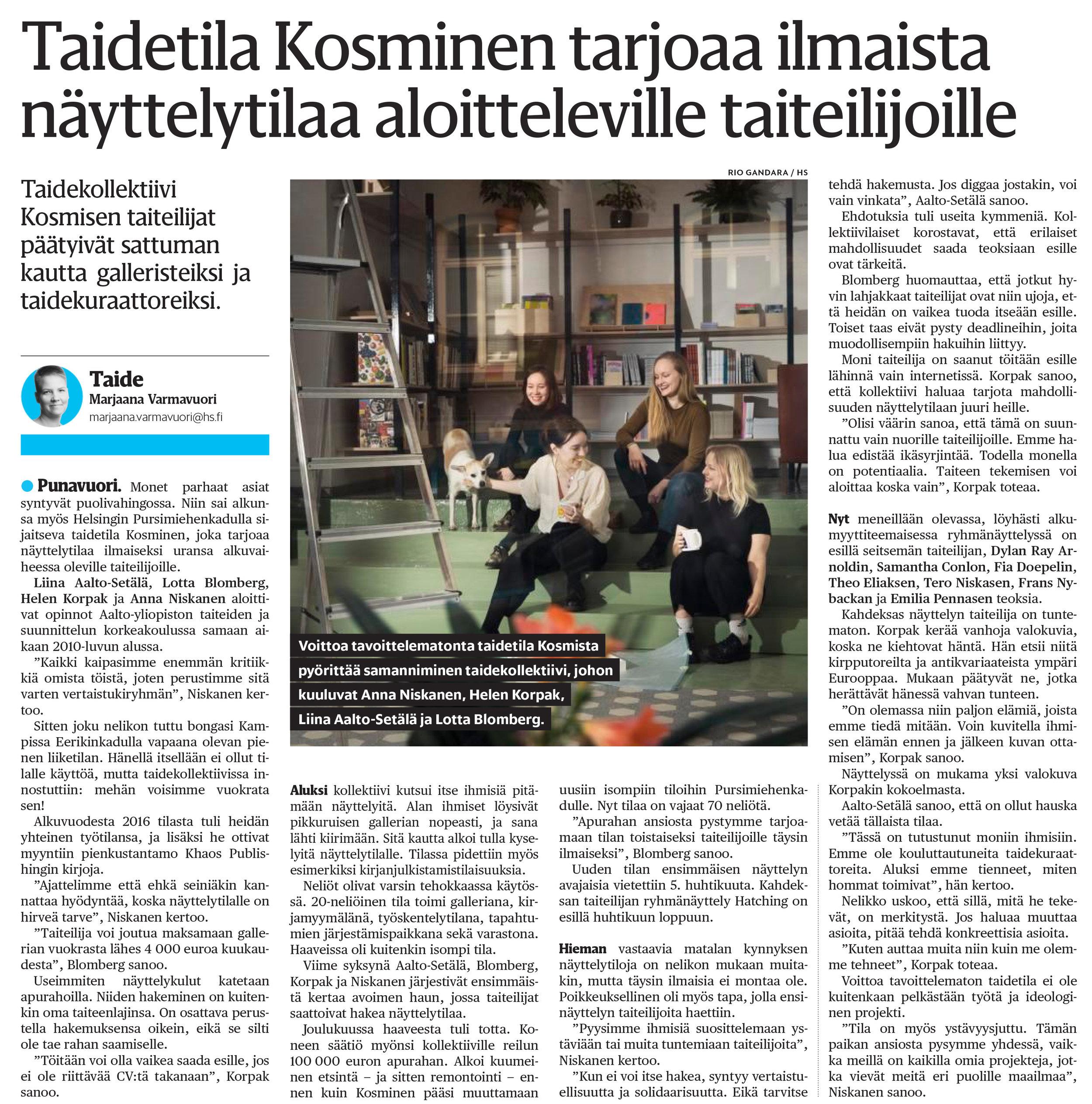 Helsingin Sanomat 4/2019