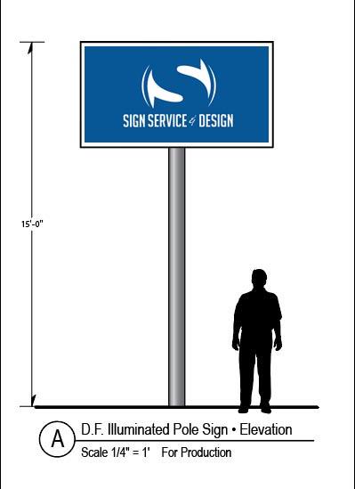 LED Sign Pole