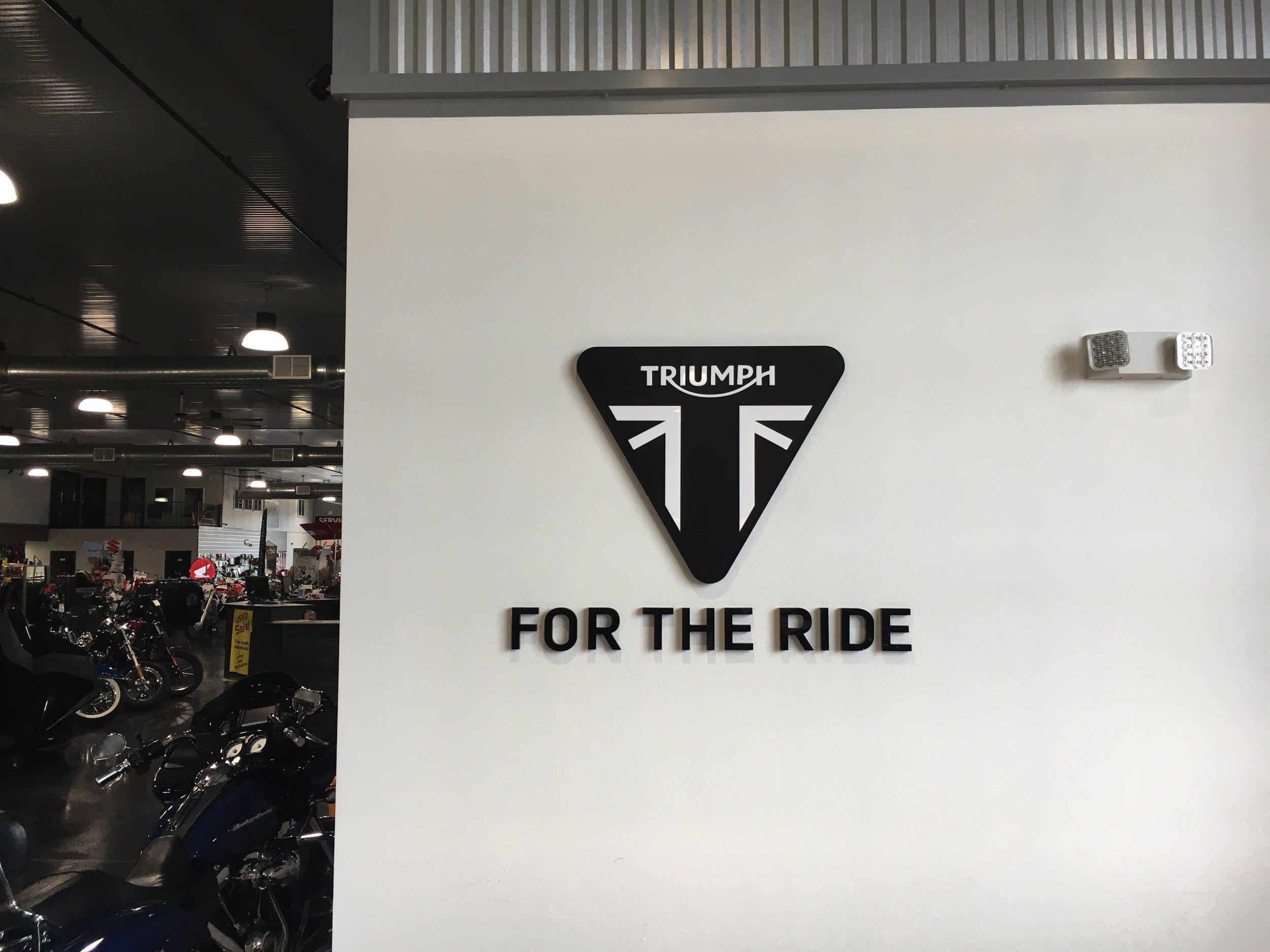 Custom Triumph Wall Signs