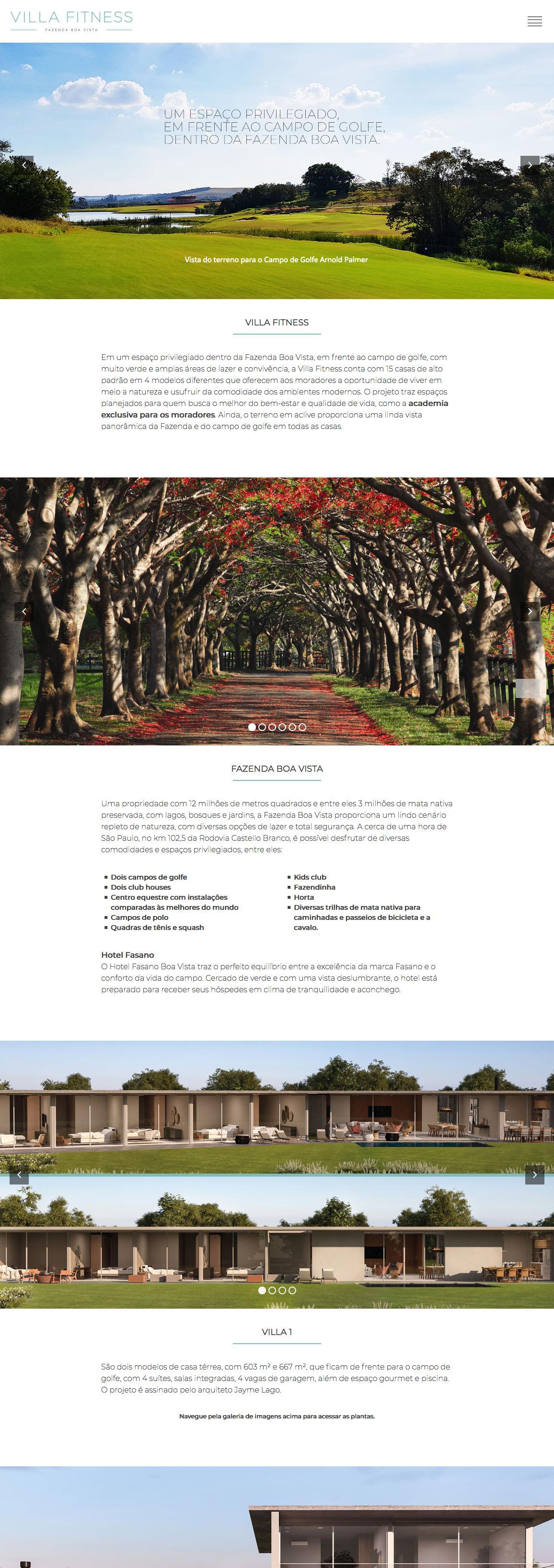 Landing page do empreendimento - CLIQUE E VEJA ONLINE