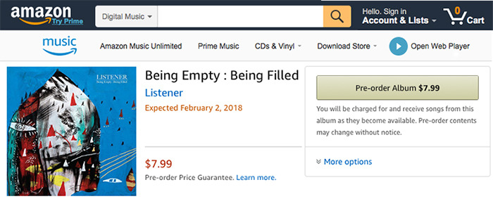 Purchase our album on  Amazon Music !