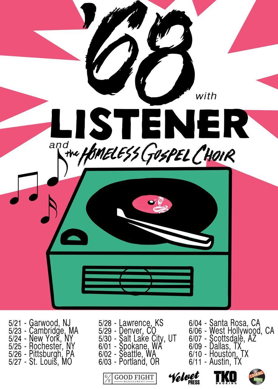 May 21 - Garwood, NJ (Crossroads) May 23 - Cambridge, MA (Middle East) May 24 - New York City, NY (Webster Hall) May 25 - Rochester, NY (Harmony House) May 26 - Pittsburgh, PA (Smiling Moose) May 27 - St Louis, MO (Fubar) May 28 - Lawrence, KS (The Jackpot) May 29 - Denver, CO (The Marquis Theater) May 30 - Salt Lake City, UT (The Loading Dock) Jun 01 - Spokane, WA (Big Dipper) Jun 02 - Seattle, WA (El Corazon) Jun 03 - Portland, OR (Analog) Jun 04 - Santa Rosa, CA (The Arlene Francis Center) Jun 06 - West Hollywood, CA (The Roxy) Jun 07 - Scottsdale, AZ (Pubrock) Jun 08 - El Paso, TX (TBA) Jun 09 - Dallas, TX (The Prophet Bar) Jun 10 - Houston, TX (Walter's Downtown) Jun 11 - Austin, TX (Grizzly Hall)